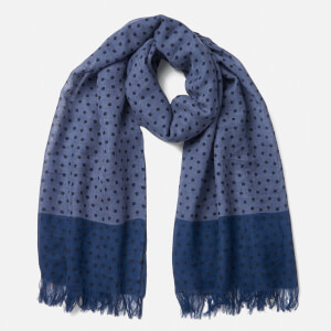 PS by Paul Smith Men's Polka Melange Scarf - Blue