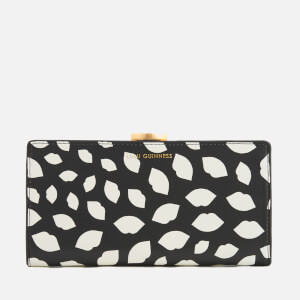 Lulu Guinness Women's Scattered Lips Flat Frame Purse - Black/Chalk