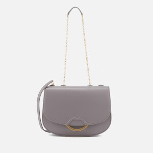 Lulu Guinness Women's Half Covered Lip Isabella Shoulder Bag - Grey
