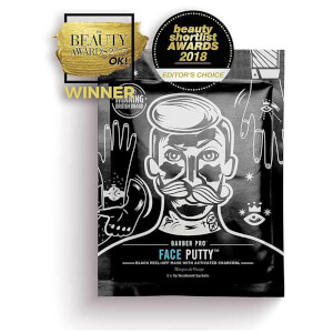 BARBER PRO Face Putty Black Peel-Off Mask with Activated Charcoal (3 appliceringar)