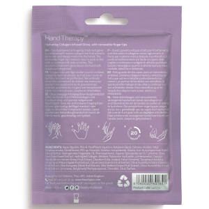 BeautyPro Hand Therapy Collagen Infused Glove with Removable Finger Tips (1 Pair): Image 2