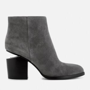 Alexander Wang Women's Gabi Suede Heeled Ankle Boots - Mink