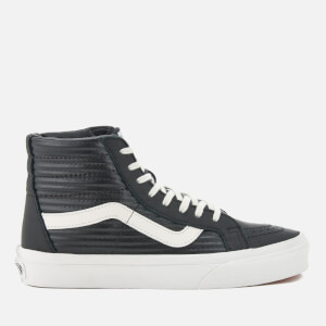 Vans Women's Sk8-Hi Reissue Moto Leather Hi-Top Trainers - Black/Blanc de Blanc