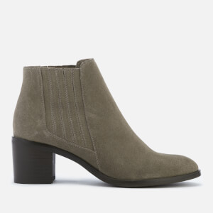 Dune Women's Peter Suede Heeled Ankle Boots - Taupe