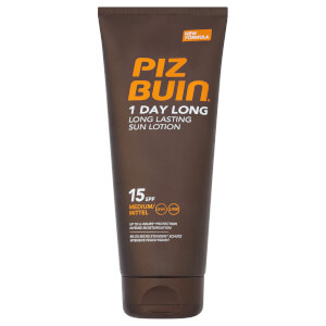 Piz Buin 1 Day Long Lasting Sun Lotion - Medium SPF15 200ml