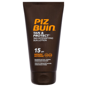 Piz Buin Tan & Protect Tan Intensifying Sun Lotion - Medium SPF 15 150 ml