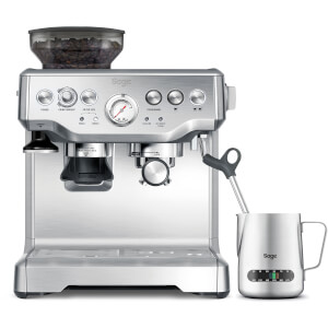 Sage BES875UK Barista Express Bean-to-Cup Coffee Machine with Temperature Control Milk Jug - Stainless Steel