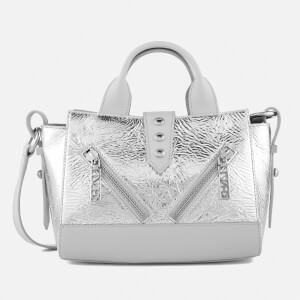 KENZO Women's Kalifornia Mini Tote Bag - Metallic Crinkle Leather
