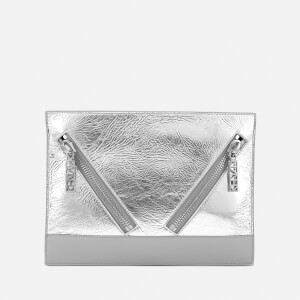 KENZO Women's Kalifornia Clutch Bag - Metallic Crinkle Leather