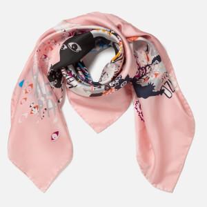 KENZO Women's Multi Icons Iconics Swarm Silk Scarf - Faded Pink