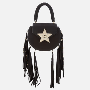 SALAR Women's Mimi Fringe Stud Bag - Black