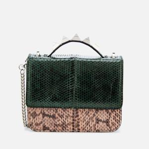 SALAR Women's Lulla Small Snake Bag - Green Cipria Ametista