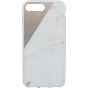 Native Union Clic Marble Metal iPhone 7 Plus Case - White/Gold