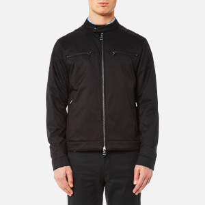 Michael Kors Men's Stretch Nylon Moto Jacket - Black