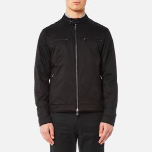 Michael Kors Men's Stretch Nylon Moto Jacket - Black