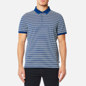 Michael Kors Men's Stripe Jacquard Polo Shirt - Marine Blue