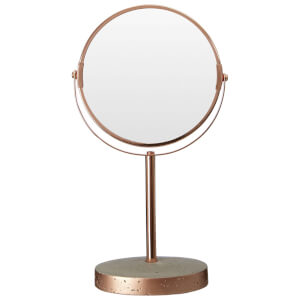Premier Housewares Neptune Swivel Bathroom Mirror - Concrete/ Copper