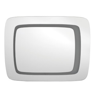 Premier Housewares Wardell Illuminated Wall Mirror - Aluminium/Glass