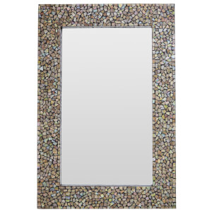 Premier Housewares Fusion Crackle Mosaic Wall Mirror - Gold