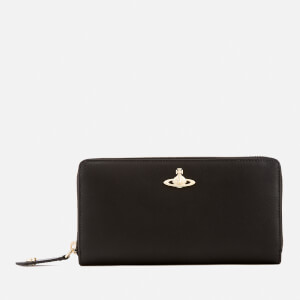 Vivienne Westwood Women's Opio Saffiano Zip Around Wallet - Black