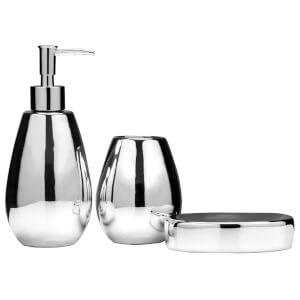 Fifty Five South Magpie Bathroom Set - Dolomite Silver (Set of 3)