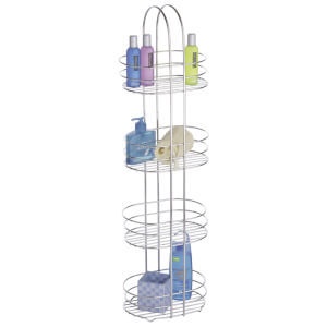 Fifty Five South 4 Tier Bathroom Organiser - Chrome Finish