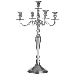 Fifty Five South Complements Medium 5 Arm Candelabra - Aluminium/Polished Finish
