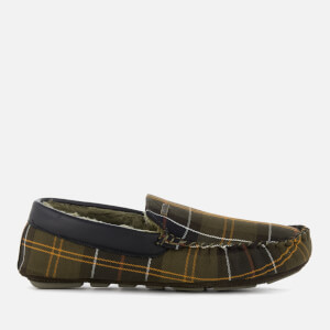 Barbour Men's Monty Suede Moccasin Slippers - Classic Tartan