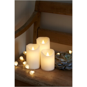 Sirius Sara LED Wax Candle Set with Timer - White