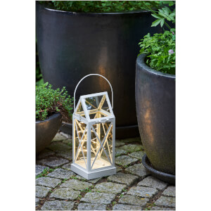 Sirius Aske Outdoor Lantern with Timer - Cream