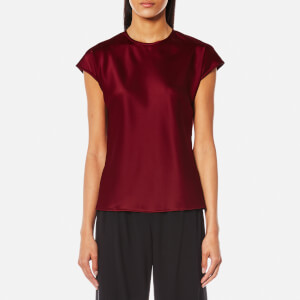 Helmut Lang Women's Cap Sleeve Fluid Top - Ruby