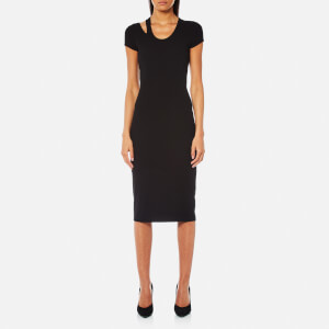 Helmut Lang Women's Cap Sleeve Rib Dress - Black