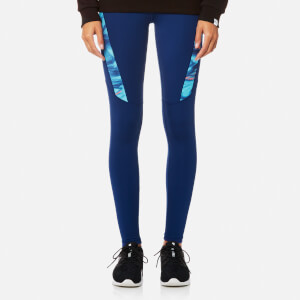 Puma Women's Everyday Graphic Tights - Blue Depths/Nrgy Turq AOP