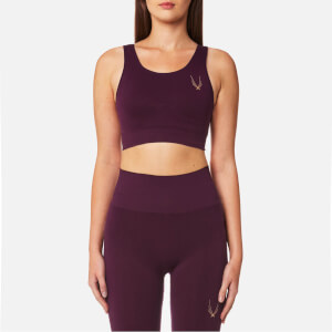 Lucas Hugh Women's Core Technical Knit Classic Sports Bra - Aubergine