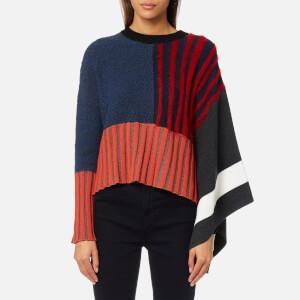 KENZO Women's Crew Neck Poncho Sweater - Multi
