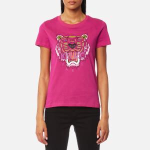 KENZO Women's Tiger Classic T-Shirt - Deep Fuchsia