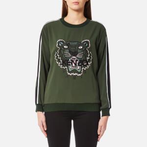 KENZO Women's Soft Tiger Embroidery Sweater - Dark Khaki
