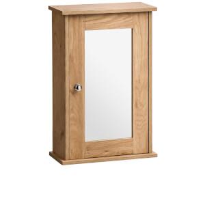 Portland Wall Cabinet - Oak Veneer/Mirror