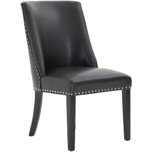 Rodeo Dining Chair - Black Leather Effect