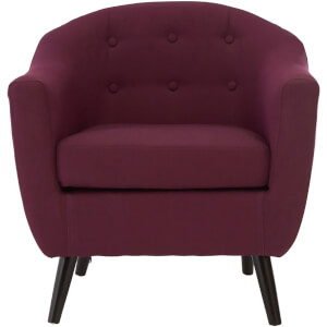 Stockholm Arm Chair - Purple/Natural