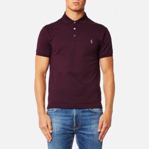 Polo Ralph Lauren Men's Stretch Slim Mesh Polo Shirt - Burgundy