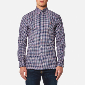 Polo Ralph Lauren Men's Slim Fit Poplin Check Shirt - Navy/Red