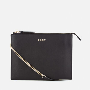 DKNY Women's Bryant Park Flat Top Zip Cross Body Bag - Black