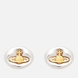 Vivienne Westwood Women's Embossed Logo Earrings - Silver/Gold