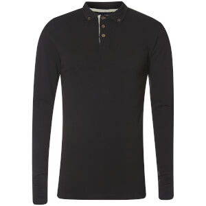 Advocate Men's Ralling Long Sleeve Polo Shirt - Black