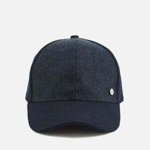 PS by Paul Smith Men's Herringbone Baseball Cap - Navy