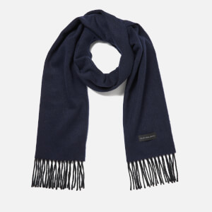 PS by Paul Smith Men's Twill Cashmere Scarf - Navy