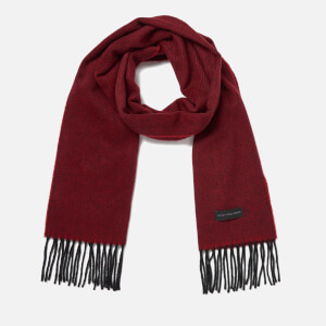 PS by Paul Smith Men's Twill Cashmere Scarf - Red
