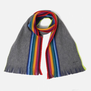 Paul Smith Men's Rainbow Edge Scarf - Grey