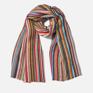 Paul Smith Men's Stripe Textured Scarf - Multi